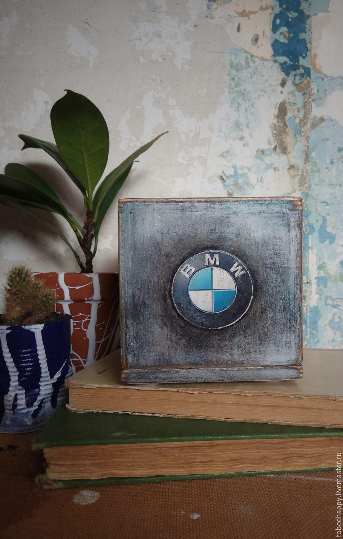 """Новый год 2019 ручной работы. Ярмарка Мастеров - ручная работа. Купить Копилка куб """"Коплю на BMW"""" повтор. Handmade. Декупаж"""