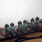 Часы классические ручной работы. Ярмарка Мастеров - ручная работа Часы на газоразрядных индикаторах ИВ 17. Handmade.