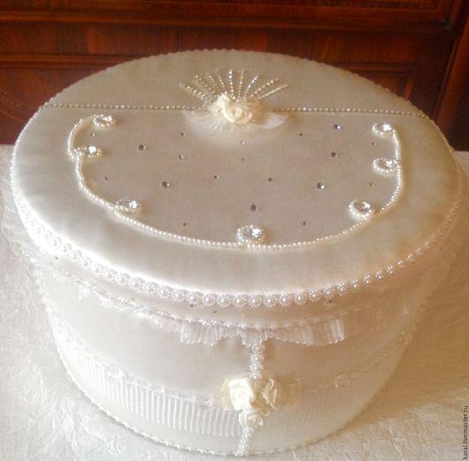Свадебные аксессуары ручной работы. Ярмарка Мастеров - ручная работа. Купить Свадебная карзина. Handmade. Белый, атлас, атласная ткань