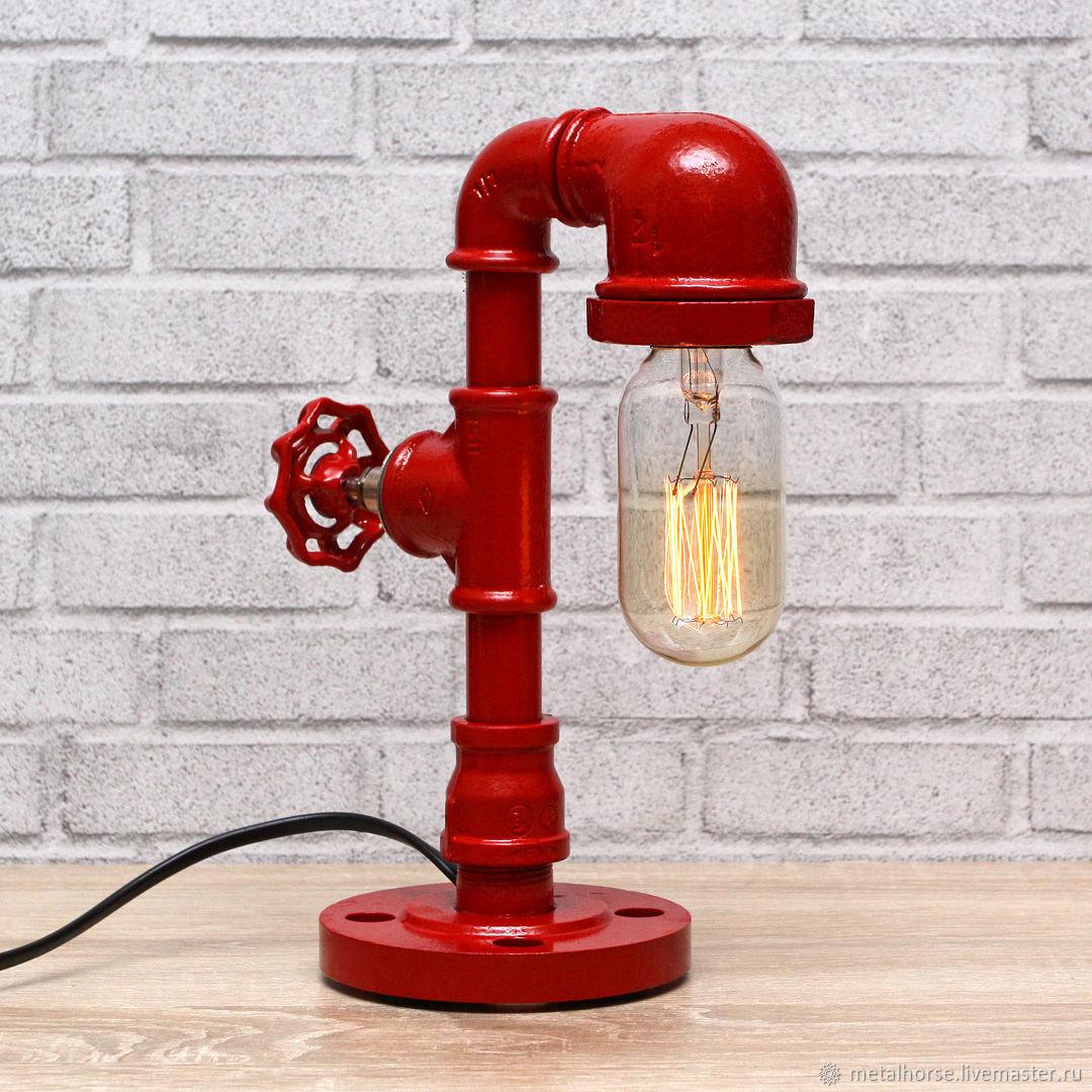 Настольная лампа в стиле лофт, индастриал, стимпанк, ретро, Настольные лампы, Москва,  Фото №1