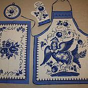 Для дома и интерьера handmade. Livemaster - original item kitchen linen set in the range of 4 items. Handmade.