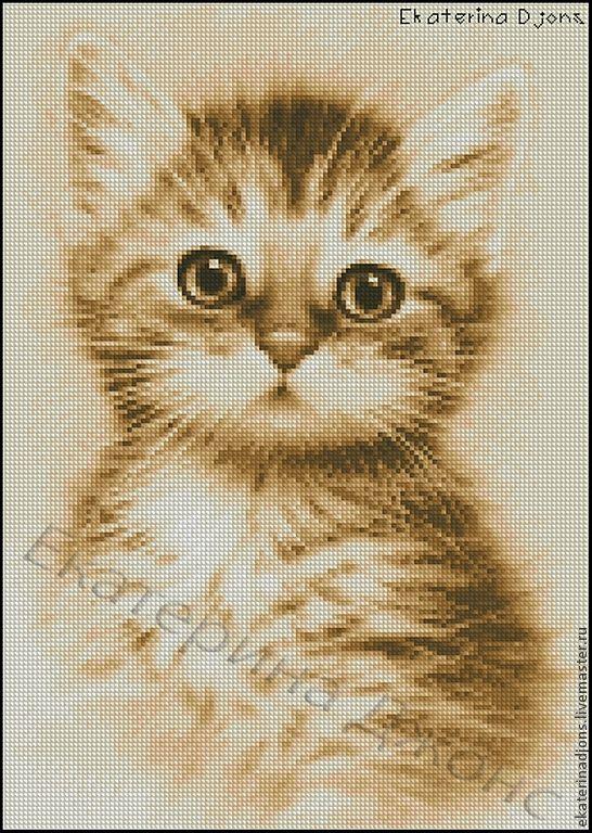 Вышивка рыжие котята