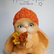 Куклы и игрушки ручной работы. Ярмарка Мастеров - ручная работа Осенняя зайка, валяная игрушка. Handmade.