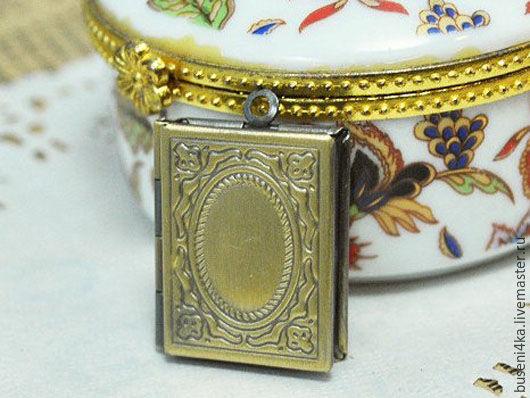 Для украшений ручной работы. Ярмарка Мастеров - ручная работа. Купить Медальон Книжка, античная бронза (1шт). Handmade.