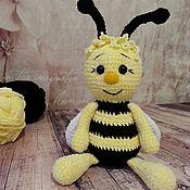 Мягкие игрушки ручной работы. Ярмарка Мастеров - ручная работа Пчёлка вязаная ручной работы. Handmade.