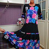 Одежда ручной работы. Ярмарка Мастеров - ручная работа Трикотажное платье меланж Зефир. Handmade.
