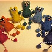 Куклы и игрушки ручной работы. Ярмарка Мастеров - ручная работа КотоРадуга (набор магнитов). Handmade.