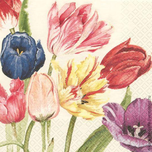 Декупаж и роспись ручной работы. Ярмарка Мастеров - ручная работа. Купить Амстердамские тюльпаны (211201) 33х33 салфетка для декупажа. Handmade.
