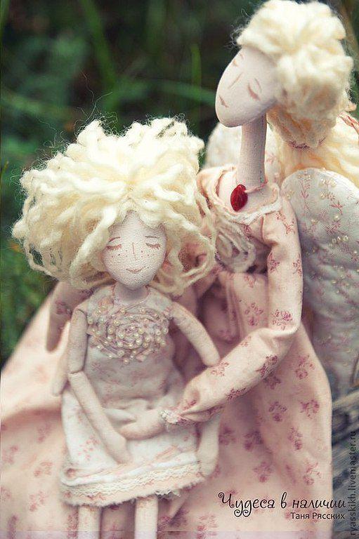 Коллекционные куклы ручной работы. Ярмарка Мастеров - ручная работа. Купить Ангелы любви и добра.... Handmade. Белый, семья