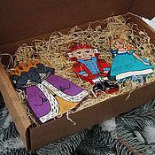 """Подарки к праздникам ручной работы. Ярмарка Мастеров - ручная работа Набор елочных игрушек """"Щелкунчик и мышиный король"""". Handmade."""