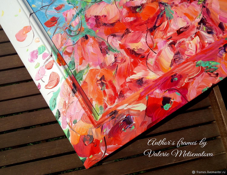 Авторская рама Кантри с локальной росписью. Рама на заказ, Фоторамки, Москва,  Фото №1