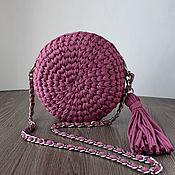 Сумка через плечо ручной работы. Ярмарка Мастеров - ручная работа Круглая сумка через плечо. Handmade.