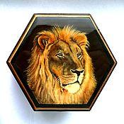 Для дома и интерьера handmade. Livemaster - original item Box lion hand painted. Handmade.