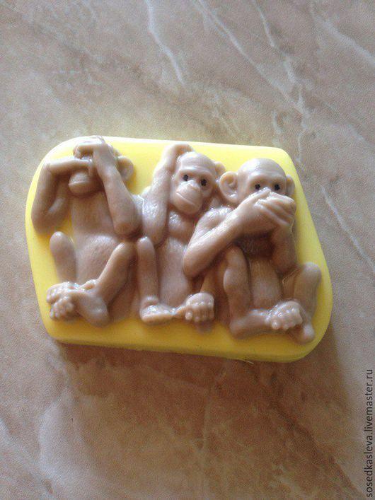 """Мыло ручной работы. Ярмарка Мастеров - ручная работа. Купить Мыло """"Три обезьянки"""". Handmade. Подарок ручной работы"""
