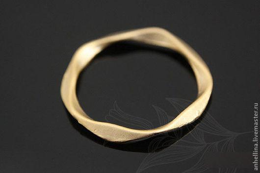 """Для украшений ручной работы. Ярмарка Мастеров - ручная работа. Купить Коннектор """"Кольцо"""" 20 мм gold plated. Handmade."""
