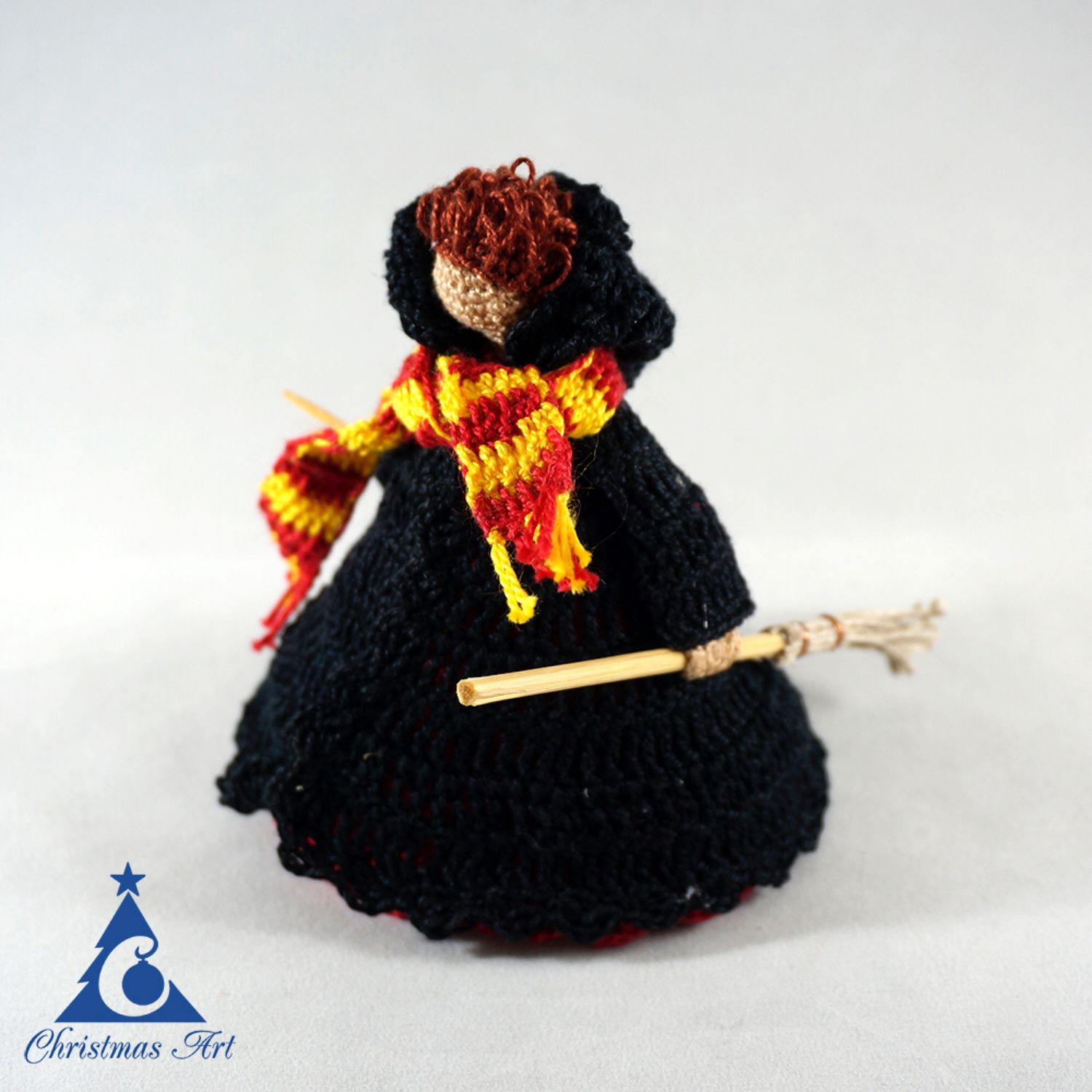 Christmas knitted toy wizard Gryffindor, Christmas toy, Christmas decorations, Moscow,  Фото №1