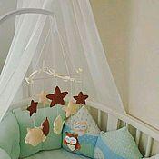 Подарки к праздникам handmade. Livemaster - original item Mobile for kids - Sweet owls. Handmade.