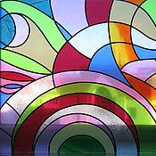 """Для дома и интерьера ручной работы. Ярмарка Мастеров - ручная работа Витраж """"Космос"""". Handmade."""