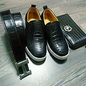 Сувениры и подарки handmade. Livemaster - original item Gifts for men: slip-on clutch belt, crocodile skin!. Handmade.