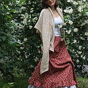 Одежда ручной работы. Ярмарка Мастеров - ручная работа Хлопковая юбка с розами. Handmade.