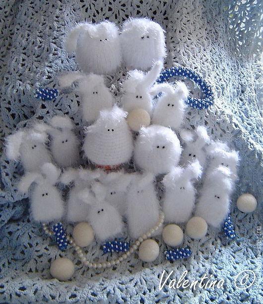Подарки на Пасху ручной работы. Ярмарка Мастеров - ручная работа. Купить Пасхальные зайцы. Handmade. Белый, добрый подарок
