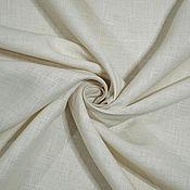 Материалы для творчества ручной работы. Ярмарка Мастеров - ручная работа Ткань льняная костюмно-плательная Светло-бежевый. Handmade.