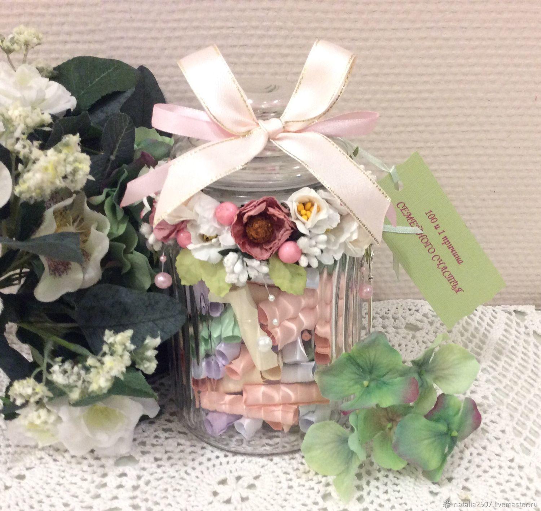 Подарки на свадьбу ручной работы. Ярмарка Мастеров - ручная работа. Купить Подарок на свадьбу 100 и 1 причина семейного счастья. Handmade.