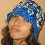 """Аксессуары ручной работы. Ярмарка Мастеров - ручная работа шляпка """" Синий иней """". Handmade."""