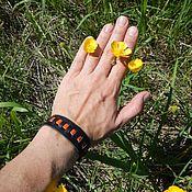 Украшения handmade. Livemaster - original item Leather bracelet of the Salamander. Handmade.