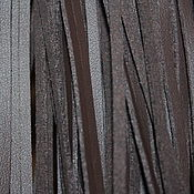 Материалы для творчества handmade. Livemaster - original item Leather cord brown, 1 meter (3,5h1,5. .  mm). Handmade.