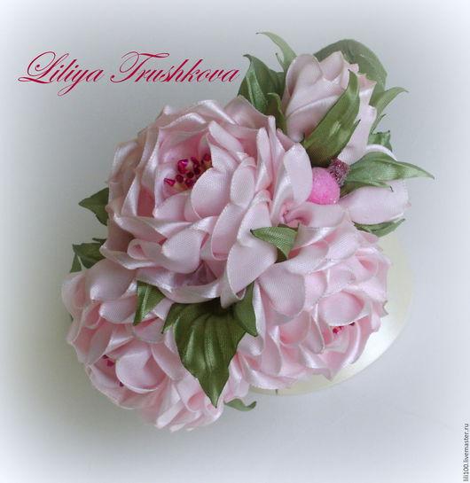 Диадемы, обручи ручной работы. Ярмарка Мастеров - ручная работа. Купить Розы из атласной ленты.. Handmade. Розы из лент