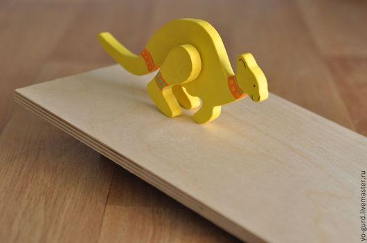 Игрушки животные, ручной работы. Ярмарка Мастеров - ручная работа. Купить Шагающая Кенгуру. Handmade. Лимонный, фанера, игрушка, кенгуру