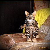 Куклы и игрушки handmade. Livemaster - original item Bengal kitten. Handmade.
