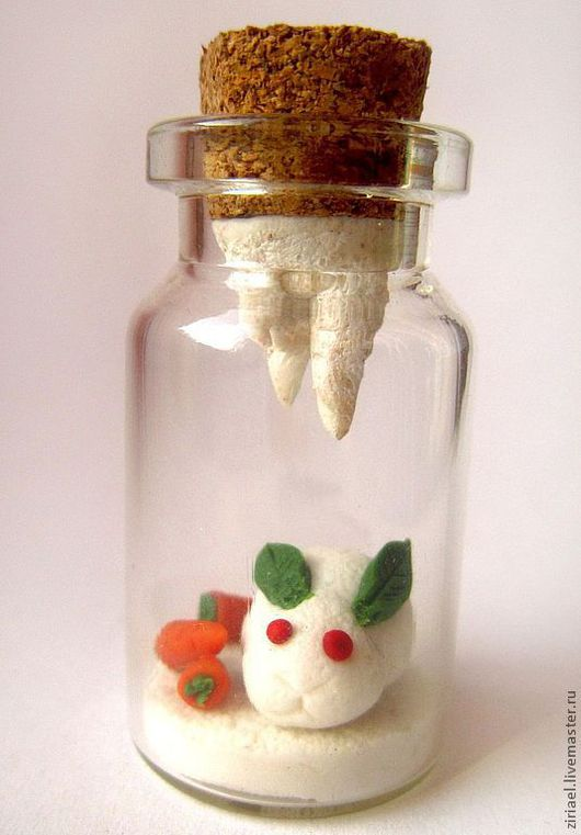 Миниатюра ручной работы. Ярмарка Мастеров - ручная работа. Купить Миниатюра Снежный кролик. Handmade. Кролик, баночка, Снег, Баночка