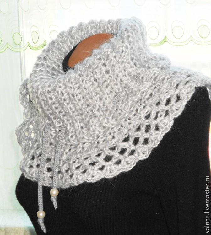 Как вязать шарф или манишку
