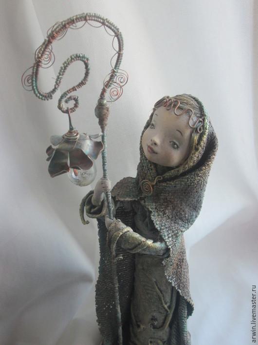 """Коллекционные куклы ручной работы. Ярмарка Мастеров - ручная работа. Купить Кукла """"Светлячок"""". Handmade. Оливковый, подарок, текстиль"""
