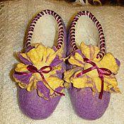 """Обувь ручной работы. Ярмарка Мастеров - ручная работа тапочки """"Камелия"""". Handmade."""