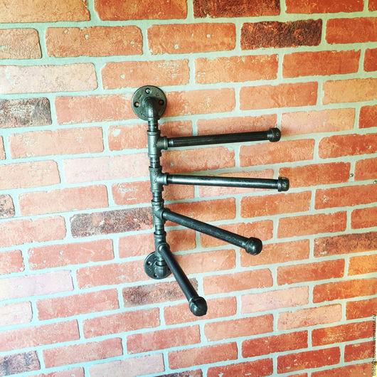 Мебель ручной работы. Ярмарка Мастеров - ручная работа. Купить Вешалка водопроводной трубы в стиле Loft. Handmade. Черный, интерьер
