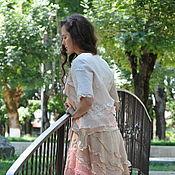 "Одежда handmade. Livemaster - original item Silk, felted costume ""twilight in the desert"". Handmade."