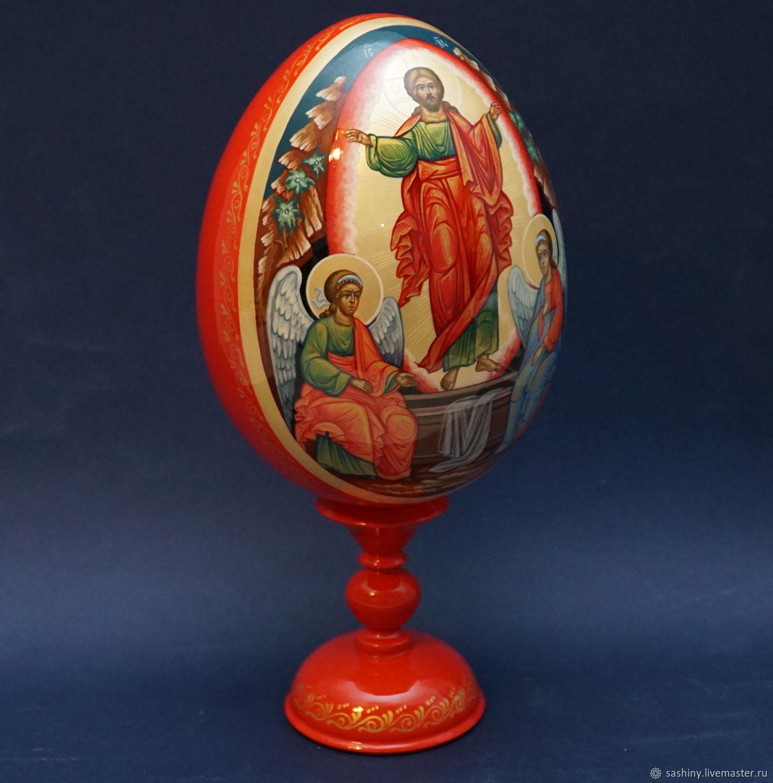Пасхальное яйцо Воскресение Христово  с ангелами, Яйца, Москва,  Фото №1