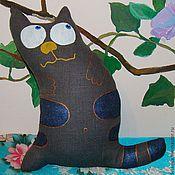 """Куклы и игрушки ручной работы. Ярмарка Мастеров - ручная работа текстильная игрушка кот """"Мечтатель"""". Handmade."""