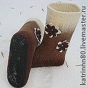 """Обувь ручной работы. Ярмарка Мастеров - ручная работа Валенки """" Кофе с молоком"""". Handmade."""