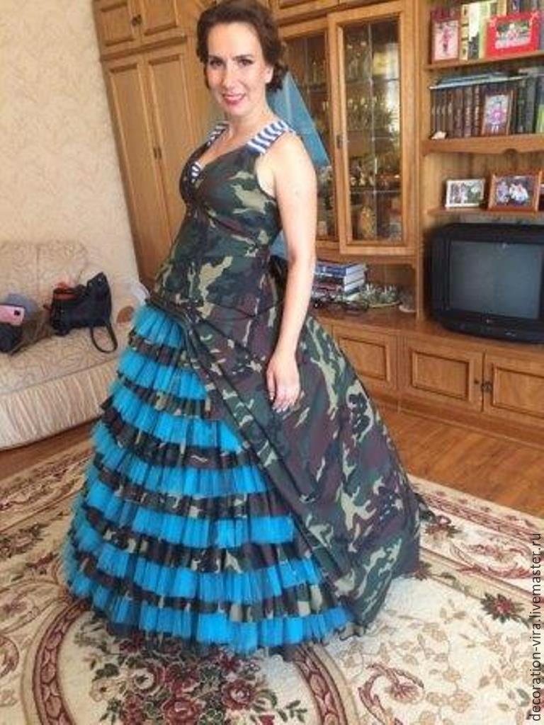 Свадебные камуфляжные платья