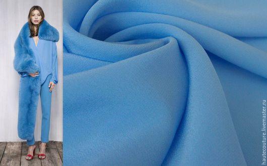 """Шитье ручной работы. Ярмарка Мастеров - ручная работа. Купить Крепдешин """"Насыщенный голубой"""". Handmade. Шелк, брендовые ткани"""