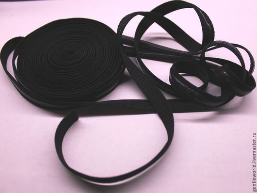 Шитье ручной работы. Ярмарка Мастеров - ручная работа. Купить лента эластичная для бретелей с силиконовой полосой 11мм. Handmade. Черный