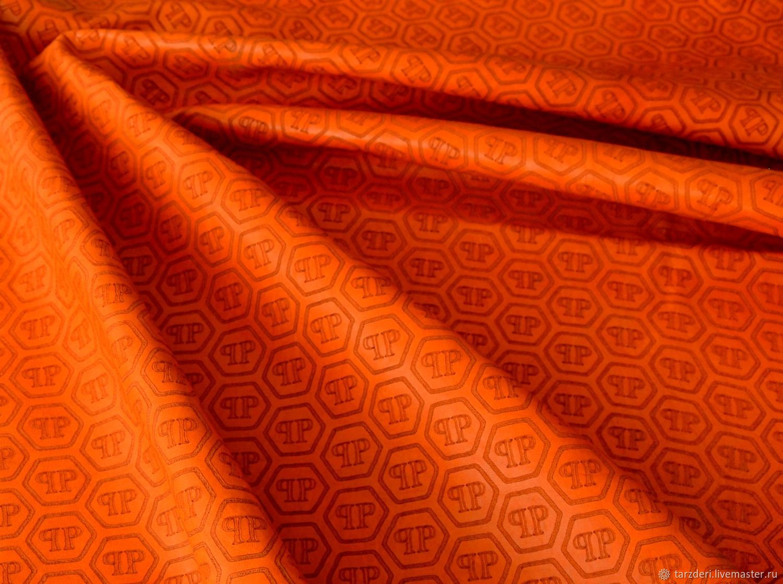 Genuine orange leather with Philipp Plein lettering (medium size), Leather, Ankara,  Фото №1