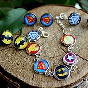 Украшения handmade. Livemaster - original item Jewelry set marvel DC superheroes Avengers justice League. Handmade.