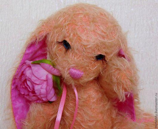 Мишки Тедди ручной работы. Ярмарка Мастеров - ручная работа. Купить Зайка Розочка (меня уже забрали). Handmade. Розовый