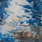 Картины и панно handmade. Livemaster - original item The Picture Landscape Of The Twilight Moon. Handmade.