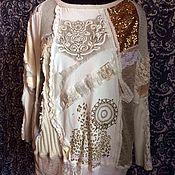 Одежда ручной работы. Ярмарка Мастеров - ручная работа Джемпер в стиле бохо Авторский стильный джемпер. Handmade.